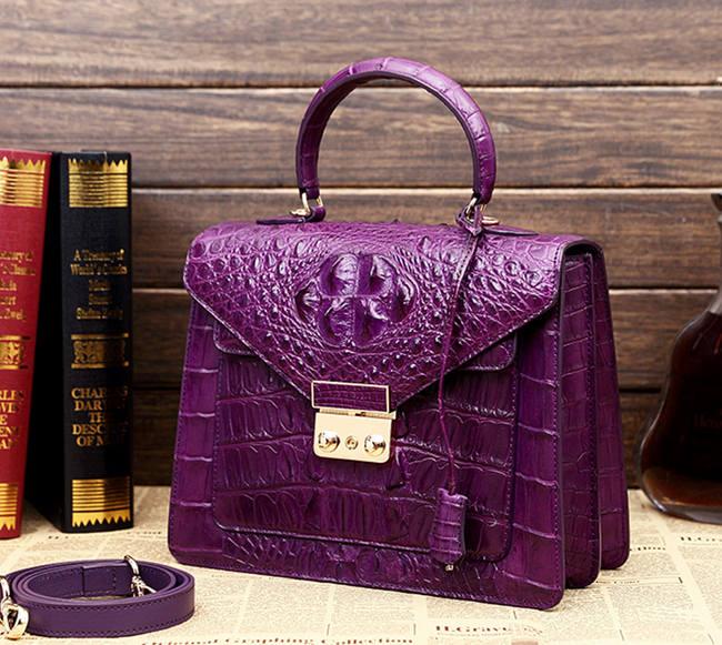 Beautiful crocodile handbag