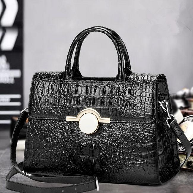 Black Fashion Crocodile Handbag