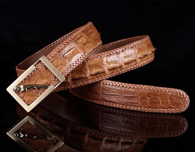 Brown Crocodile Belts for Men
