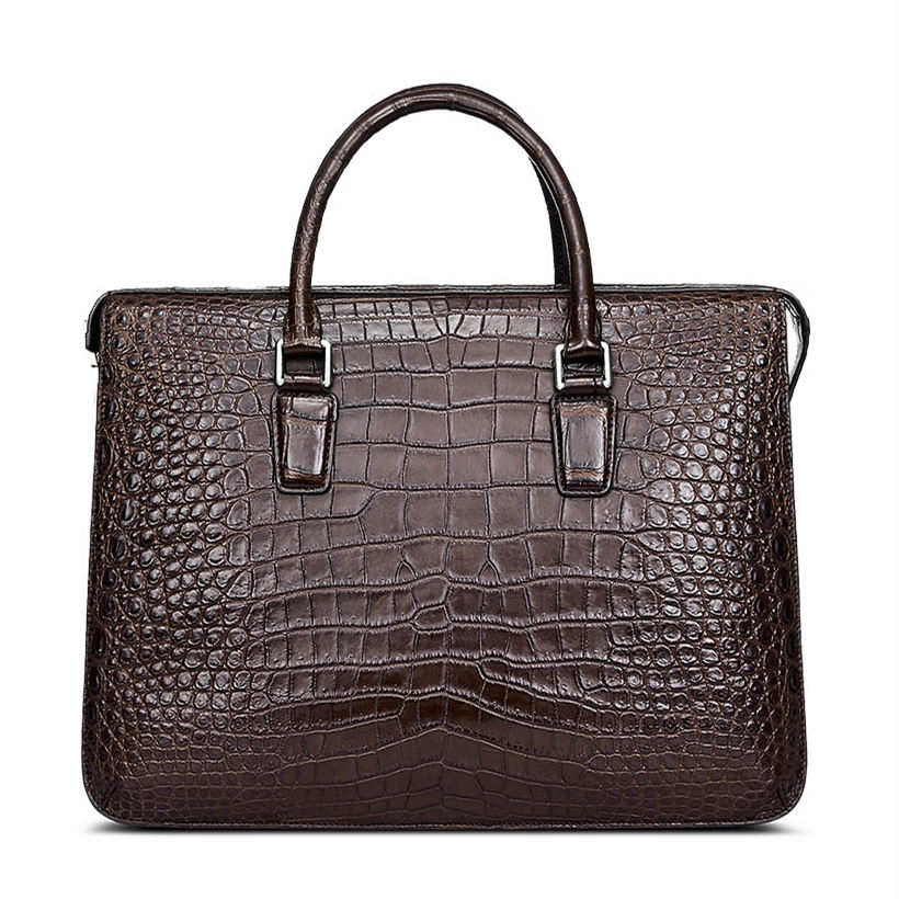 Luxury Alligator Bag, Luxury Alligator Laptop Bag for Men