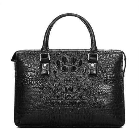 Classic Black Genuine Crocodile Briefcase