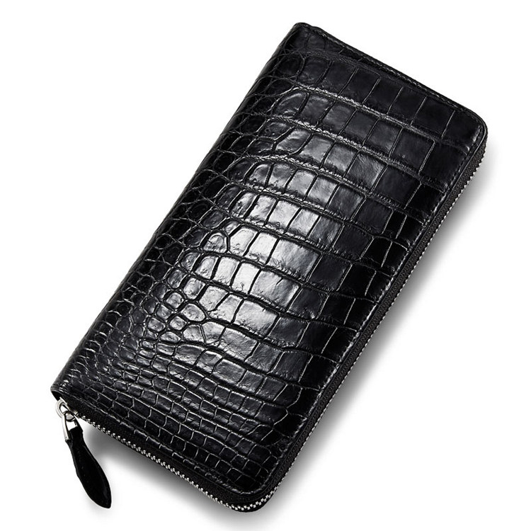 Classic Black Genuine Alligator Wallet