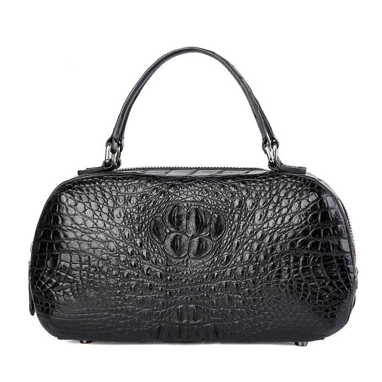 Classic Crocodile Top-Handle Handbag