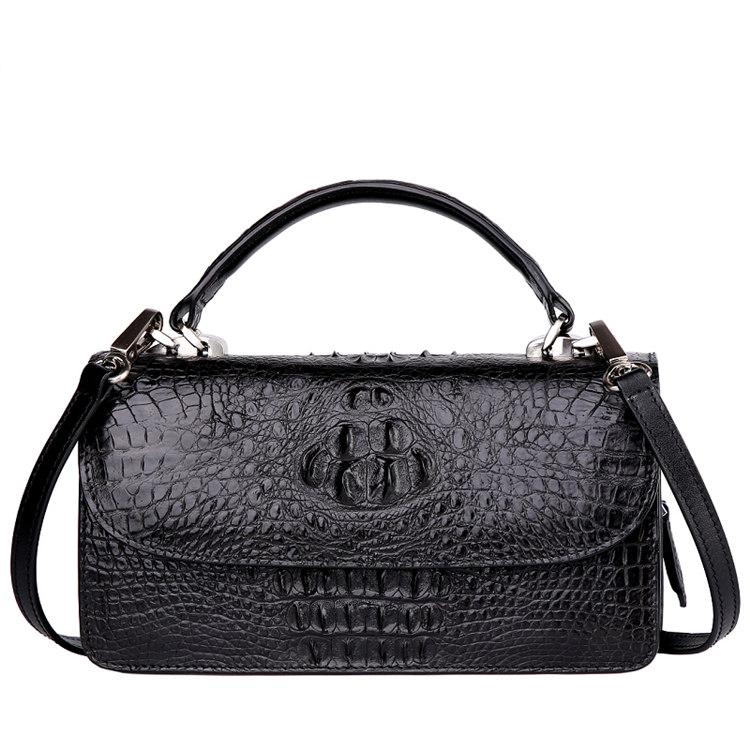 Crocodile Clutch Evening Bag, Crocodile Handbag, Crocodile Crossbody Bag