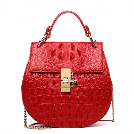 Crocodile Leather Evening Handbag, Crocodile Leather Wrist Bag