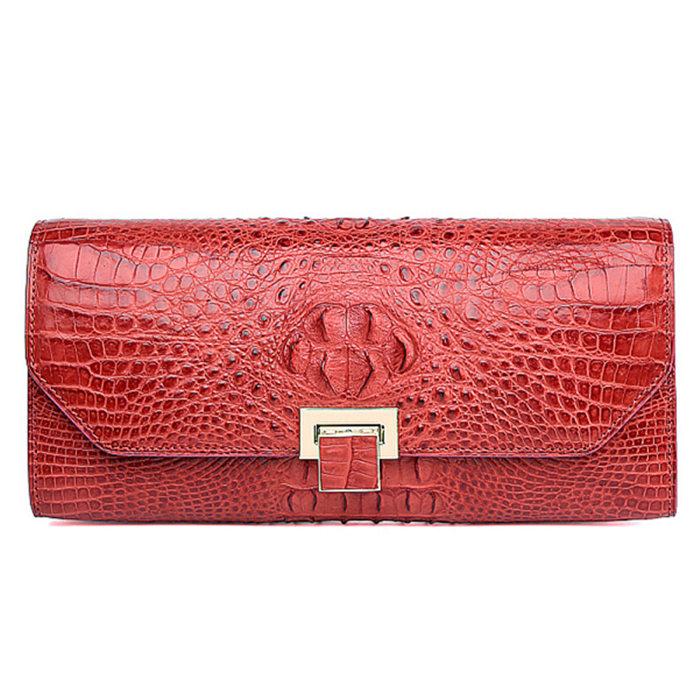 Genuine Crocodile Purse, Crocodile Clutch Bag