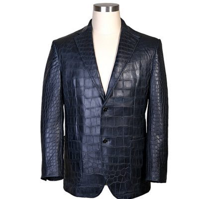 Exotic Alligator Skin Men's Jacket