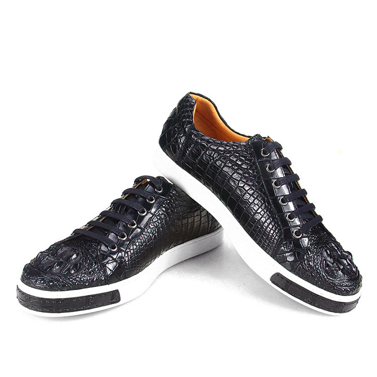 Fashion Genuine Crocodile Skin Shoes