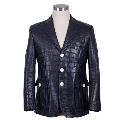 Genuine Alligator Skin Jacket