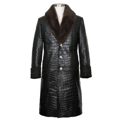 Genuine Alligator leather Overcoat