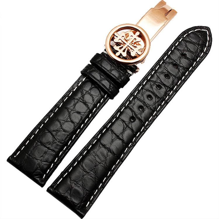 Handmade Genuine Alligator Leather Watch Band