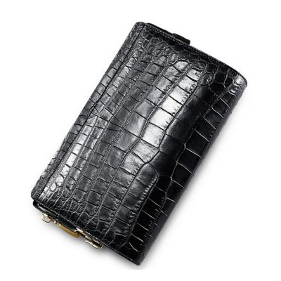 Large Genuine Alligator Wallet, Men's Alligator Clutch Wallet