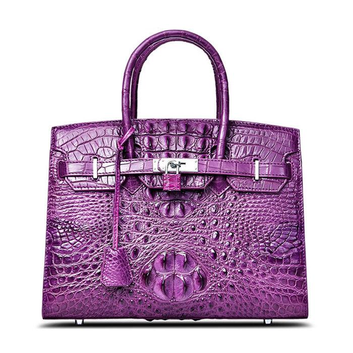 Luxury Genuine Crocodile Handbag for Women