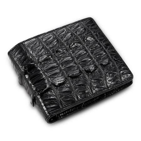 Mens Bifold Genuine Crocodile Wallet