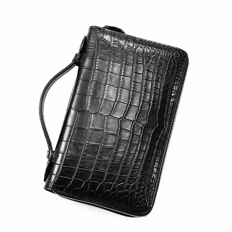 Men's Alligator Clutch Bag, Large Alligator Wallet