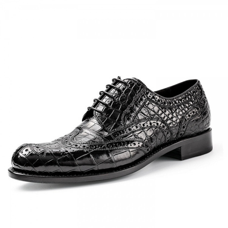 Men's Genuine Alligator Skin Business Dress Shoes