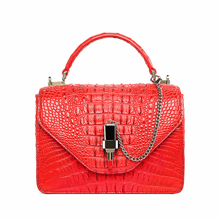 Stylish Crocodile Crossbody Handbag