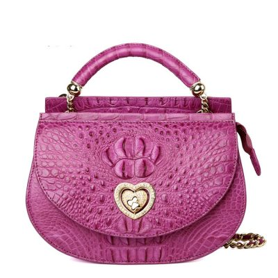 Stylish Crocodile Leather Evening Handbag