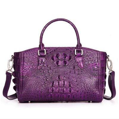 Crocodile Leather Shoulder Bag, Crocodile Leather Designer Handbag