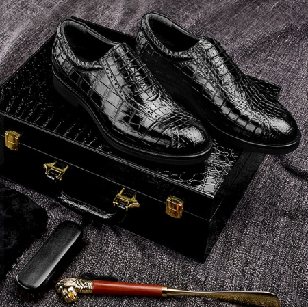 Alligator Leather Dress Formal Shoes-Gift Box-Packaging Details
