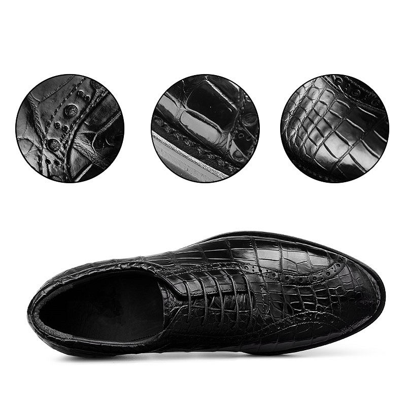 Alligator Leather Dress Shoes-Details