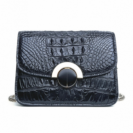 Alligator Leather Purse, Alligator Leather Cross-body Bag-Black