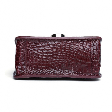 Alligator Leather Purse, Alligator Leather Cross-body Bag-Bottom