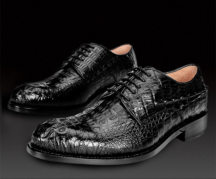 BRUCEGAO's Handmade Crocodile Leather Shoes