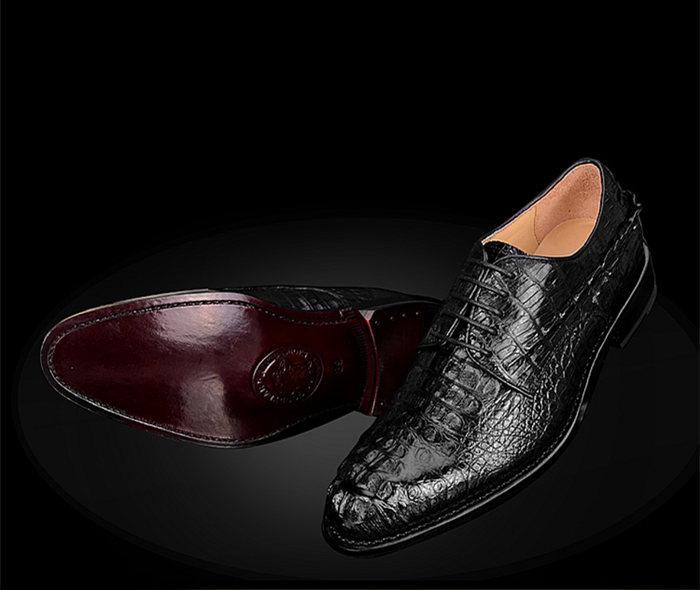 BRUCEGAOs Handmade Crocodile Shoes for Men