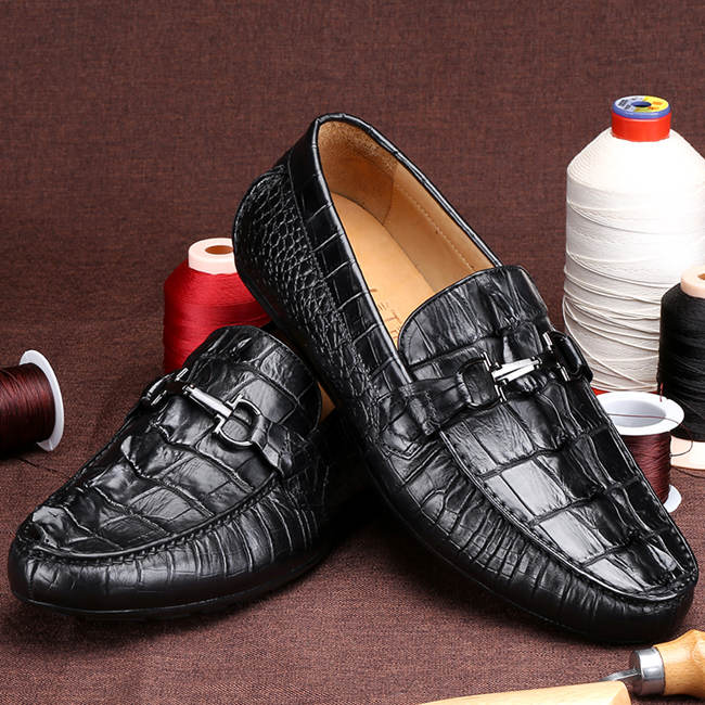 Black Alligator Skin Shoes for sale