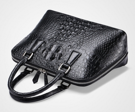 Black Classic Genuine Crocodile Handbag, Shoulder Handbag for Women-Top