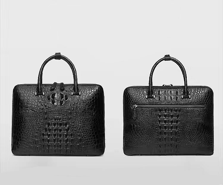 Black Fashion Crocodile Leather Bags for Men