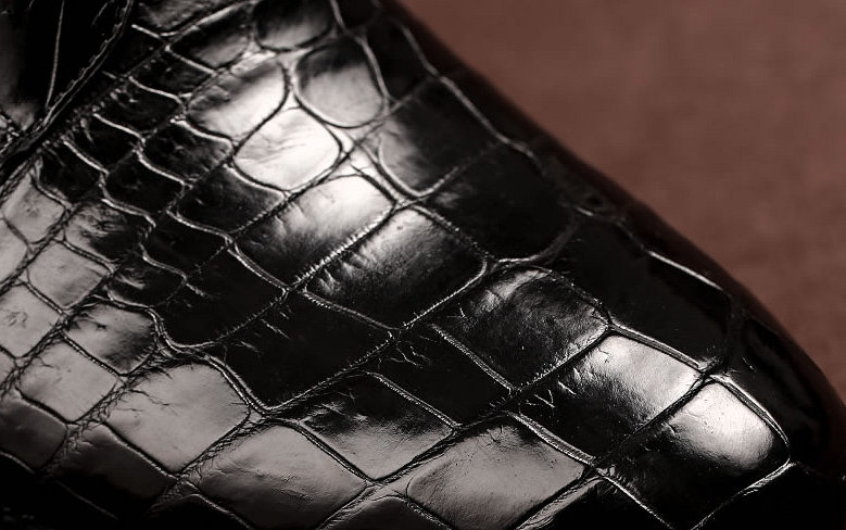 Black Genuine Alligator Boots-Details