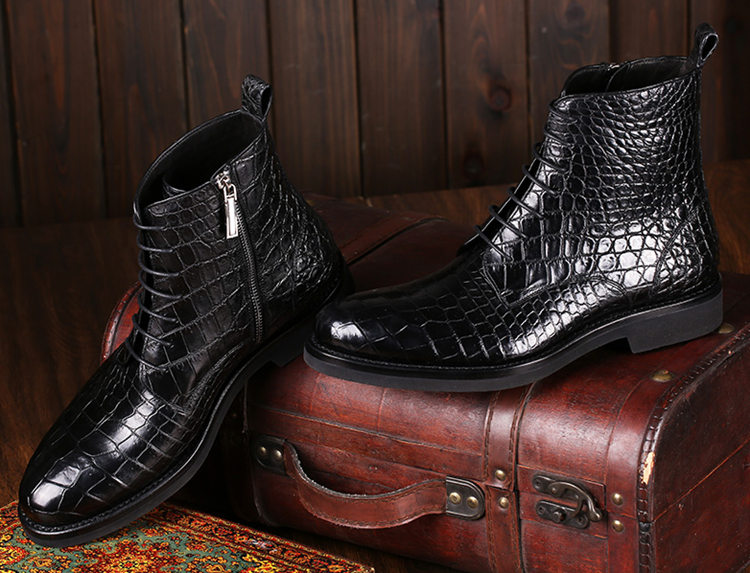Black Genuine Alligator Boots-Exhibition-1