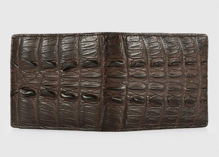 Brown Bifold Genuine Crocodile Wallet-Exhibition