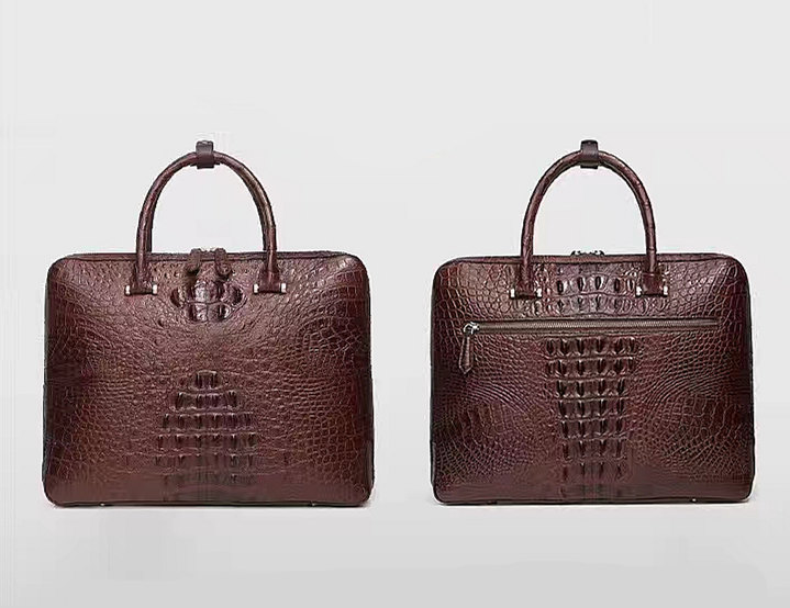 Brown Fashion Crocodile Leather Bags for Men