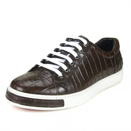 Brown Genuine Alligator Shoes-1
