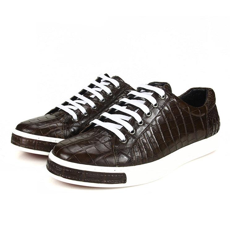 Brown Genuine Alligator Shoes-2