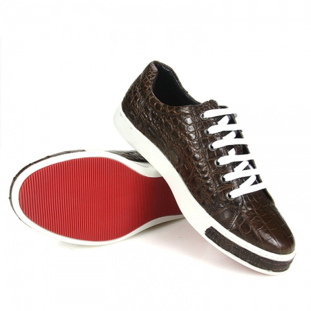 Brown Genuine Alligator Shoes-3