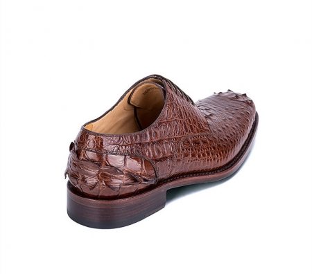 Brown Genuine Crocodile Leather Shoes-1