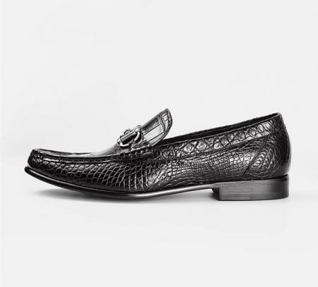 Mens Alligator Slip-On Loafer-Side