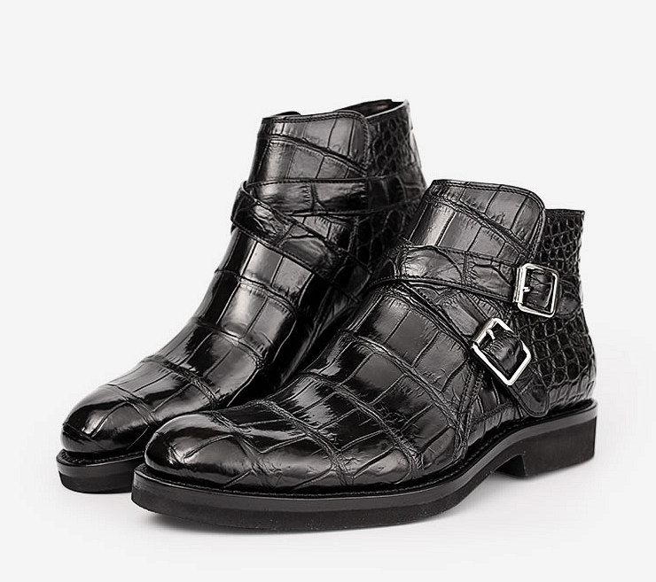 Casual Alligator Boots-Exhibition