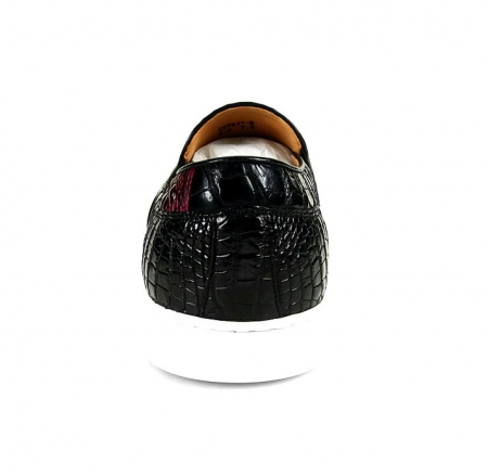 Casual Crocodile Shoes, Black Crocodile Sneakers-1