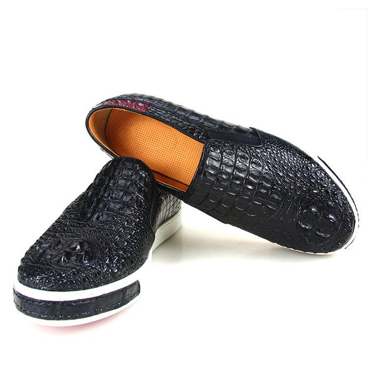 Casual Crocodile Shoes, Black Crocodile Sneakers-Exhibition-1