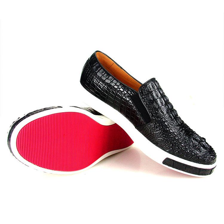 Casual Crocodile Shoes, Black Crocodile Sneakers-Exhibition
