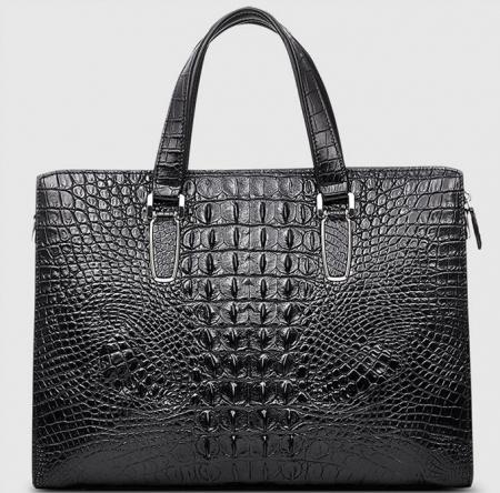 Casual Genuine Crocodile Bag,Crocodile Briefcase Laptop Bag for Men-Back