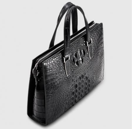 Casual Genuine Crocodile Bag,Crocodile Briefcase Laptop Bag for Men-Top