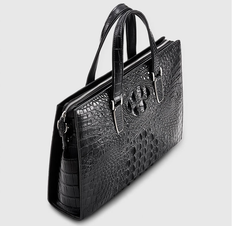 Casual Genuine Crocodile Bag,Crocodile Briefcase Laptop Bag for Men-Top