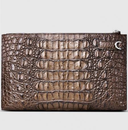 Casual Genuine Crocodile Wallet-Back