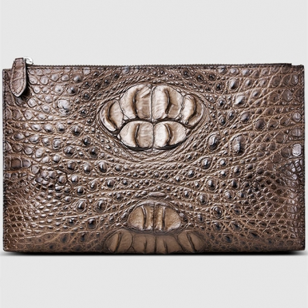 Casual Genuine Crocodile Wallet-Front